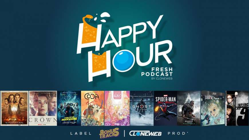 Happy Hour #54 : Supernatural, The Crown, Lou Sonata, Aassassin's Creed Valhalla, Truth Seekers…